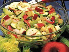 Salade aux pommes croquantes