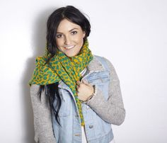 Green and Yellow Scarf - Uncovet