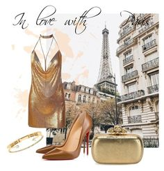 """The Golden Mood"" by maria-kista ❤ liked on Polyvore featuring Christian Louboutin, Alexander McQueen and Delfina Delettrez"