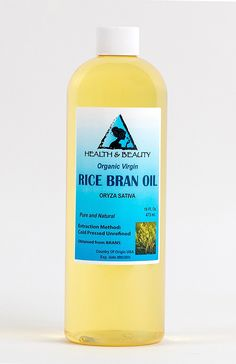 Rice Bran Oil Unrefined Organic Carrier Cold Pressed Virgin Raw Pure 32 oz >>> Check out this great product.