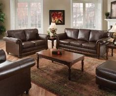 Looking for a faux leather sofa bed? We've selected 8 options that can be used as a couch or a pull out sofa sleeper when guests come over. Loveseat Living Room, Leather Sofa Bed, Sofa And Loveseat Set, Room Set, Living Room Collections, Couch And Loveseat, Brown Living Room Decor, Living Room Sets, Sofa Set