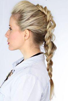 200 idéias de penteados para inspirar: trança com ares de moicano