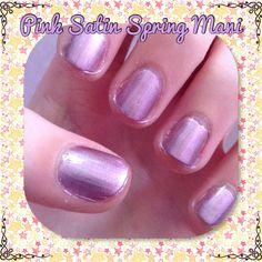 Colors used:  Sally Hansen: Pink satin