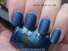 Astor Devil In Me (Smooth Velvet Effect) Nail Polishes, Nails, Devil, Smooth, Velvet, Finger Nails, Ongles, Nail, Demons