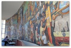 Discover details to find all three of the Diego Rivera murals in San Francisco. They include the Allegory of California, The Making of a Fresco and The Pan American Unity. Diego Rivera, San Francisco, Fresco, Unity, Places To Visit, California, American, Tips, Street Art