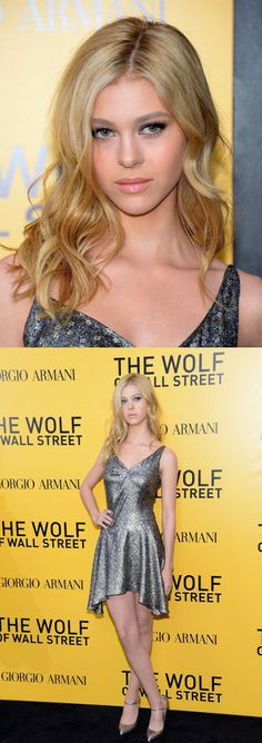 Nicola Peltz at the NY premiere of 'The Wolf of Wall Street.' Styling by Leslie Fremar. Makeup by Jake Bailey.