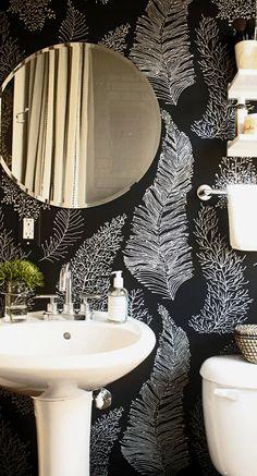 bathroom wallpaper Modern Interior design ideas