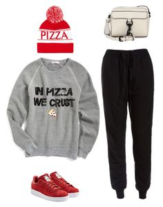 """In Pizza we crust"" by musicfriend1 on Polyvore featuring adidas Originals, Forever 21, Bow & Drape, Sans Souci and Rebecca Minkoff"