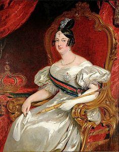 ca. 1840 Rainha Maria II of Portugal born in Rio / by John Simpson (Museu Imperial - Petropolis, Rio de Janeiro Brazil) Wm