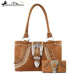 HW-MW165-8394 Montana West Buckle Collection Set (Handbag & Wallet)