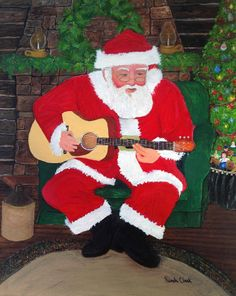 Singing Santa  Singing Santa, an oil painting on cotton canvas, was completed in December of 2013. The original painting measuring 16 x 20 i...