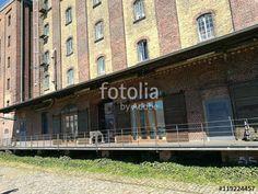 Veranda eines ehemaligen Lagerhauses und Speicher mit denkmalgeschützter Fassade in Münster in Westfalen im Münsterland