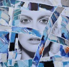 Trendykunst presenteert dit prachtige canvas/olie schilderij van een vrouwengezicht in meerdere kleuren.