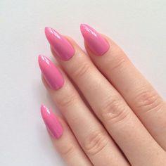 #long #nails #pink