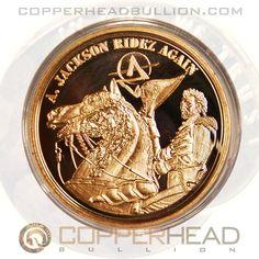 Andrew Jackson RideZ Again 1 oz Copper Coin - Apocalypse Z Series