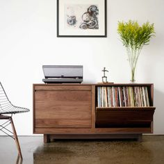 Home Decoration For Christmas Vinyl Record Storage, Lp Storage, Cabinet Storage, Storage Ideas, Cabinet Ideas, Record Cabinet, Pallet Tv Stands, Audio Room, Fine Furniture