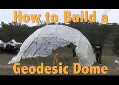 Cool DIY Video : How to build a 268 Square Feet Geodesic Dome for $300 . Step by Step instructions