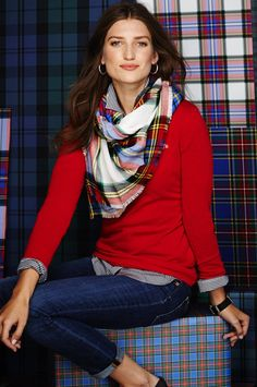 A dash of plaid (with our favorite scarf) adds a certain something to your fall look.