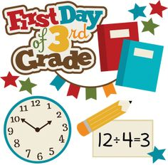First Day Of 3rd Grade SVG school svg collection school svg files for scrapbooking