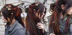 Wool dreads made by Dread Witch