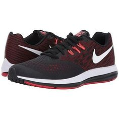 online store c164d 6f11d Nike Zoom Winflo 4 Black White University Red Total Crimson Men s Running  Shoes