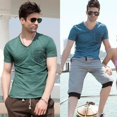 Shadowed Pocket T-Shirt at Sneak Outfitters http://www.sneakoutfitters.com/Summer-2013/OLRIK-Designer-V-Neck-Cotton-Tee-p3746.html