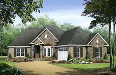 HDC-1898-1-The Greystone, is a 1,898 sq. ft./ 3 bedroom/ 2 bath house plan that you can purchase for $690.00 and view online at http://www.homedesigncentral.com/detail.php?planid=HDC-1898-1.