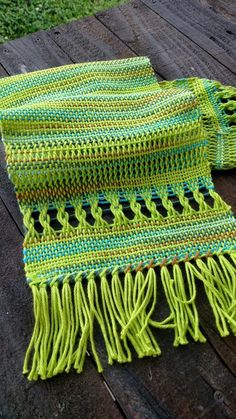 Beautifully handwoven table runner by Libby Engstrom