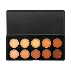 Our 10 colour concealer palette is incredibly versatile and adaptable. With such a range of shades, this is a palette suitable for both concealing and contouring and for a large range of different skin tones.Finding the right shade of concealer c. Contour Makeup, Contouring And Highlighting, Makeup Brush Set, Face Makeup, Contour Palette, Makeup Palette, Makeup 101, Beauty Makeup, Hair And Beauty