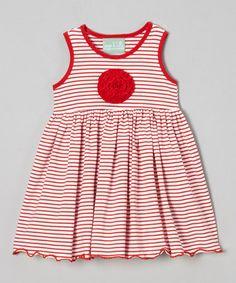 Love this Red & White Stripe Maggie Dress - Infant, Toddler & Girls on #zulily! #zulilyfinds