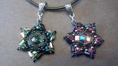Chrysina Beads: David's Star Pendants  the David's Star pendant won the poll! Find the tutorial here***