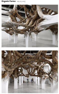 Henrique Oliveira art for PALAISE DE TOKYO