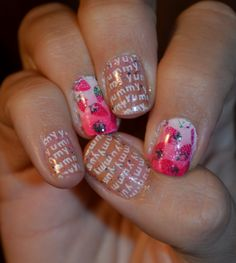#Cheeky 42 #stamping #nails #nailart #strawberry #msmd http://nottynormanails.blogspot.nl/2013/12/sunday-stamping-jelly-sandwich-msmd.html