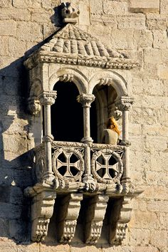 Window detail of the Lisbon Belém Tower ... how beautiful can a fortress be! Portugal