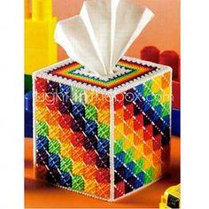 arco iris de bordado a mano tejido caja