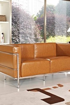 Le Corbusier LC3 Genuine Leather Loveseat
