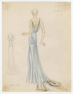 Bergdorf Goodman sketches : Kelly 1930s. 1930-939. Metropolitan Museum of Art, New York. The Costume Institute. Bergdorf Goodman sketches, 1929-1952 Costume Institute. #glamour #fashionstyle | Let's talk about fashion.