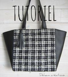 Cousez facilement ce sac cabas très féminin et fonctionnel, crée par Dehem, avec ce tutoriel en PDF. Ses dimensions en font un sac idéal pour tous...