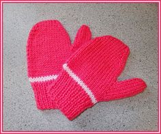 marianna's lazy daisy days: Easy toddler and child mittens - boy or girl Baby Mittens Knitting Pattern, Baby Hats Knitting, Knit Mittens, Free Knitting, Toddler Mittens, Knitting For Charity, Fingerless Gloves Knitted, Knit Slippers, Crochet Patterns