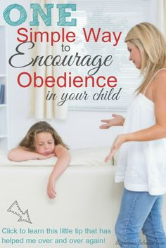 One Simple Way to Encourage Obedience in Your Child - The Purposeful Mom