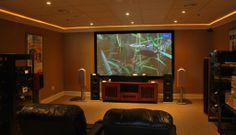 #HomeOwnerBuff Middle Theatre Room. Home theater rooms can vary in scope from ground-up room remodels with custom furniture.