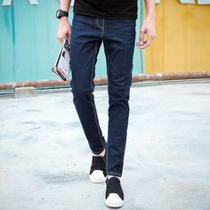 28.99$  Watch now - https://alitems.com/g/1e8d114494b01f4c715516525dc3e8/?i=5&ulp=https%3A%2F%2Fwww.aliexpress.com%2Fitem%2F2016-New-Arrival-Fashion-Black-Color-Slim-Straight-Leisure-Casual-Brand-Jeans-Men-Hot-Sale-Denim%2F32695666430.html - 2016 New Arrival Fashion Black Color Slim Straight Leisure & Casual Brand Jeans Men,Hot Sale Denim Cotton Men Jeans,DL585 28.99$
