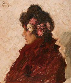 Carlos Federico Sáez, Estudio, 1899, Óleo sobre tela, 65 x 54 cm