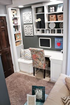 Closet Turned Office Inspiration