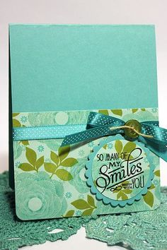 Limited Supply Challenge - So Many Smiles Card by Heather Nichols for Papertrey Ink (July 2012)