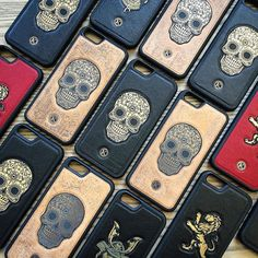 The whole collection of leather cases! SHOP NOW AT: www.KeywayDesigns.com (Link in Bio)