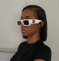 Weave Ponytail Hairstyles, Black Girl Braided Hairstyles, Try On Hairstyles, Baddie Hairstyles, Straight Hairstyles, Black Hair Inspiration, Sunglasses For Your Face Shape, Ray Bans, Hair Laid