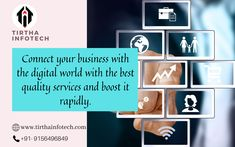 Connect your business with the digital world with the best quality services and boost it rapidly. Content Marketing, Online Marketing, Digital Marketing, Mobile App Development Companies, Software Development, Marketing Consultant, Competitor Analysis, Entrepreneurship, Connect