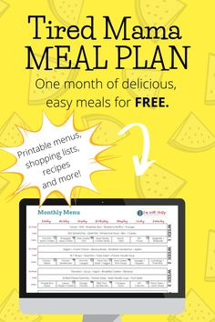 Get a WHOLE MONTH of easy, delicious meals... totally FREE! Includes printable menus, shopping lists, recipes, and so much more. Get it now! Healthy Meals For Kids, Kids Meals, Healthy Life, Healthy Food, Mom Advice, Parenting Advice, Mental Health Support, Outdoor Activities For Kids, Easy Family Meals