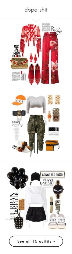 """""""dope shit"""" by cbmalloy ❤ liked on Polyvore featuring Roger Vivier, Kate Spade, Givenchy, F.R.S For Restless Sleepers, Dilara Findikoglu, Unravel, Gucci, Lanvin, Chopard and Sanayi 313"""